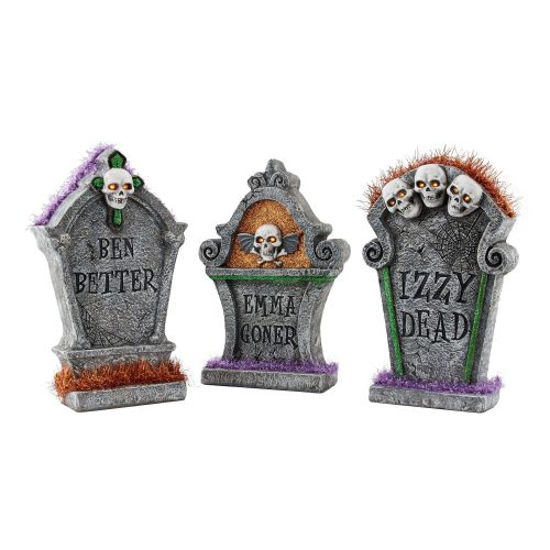 Department 56 Lit Grave Stones - Set of 3